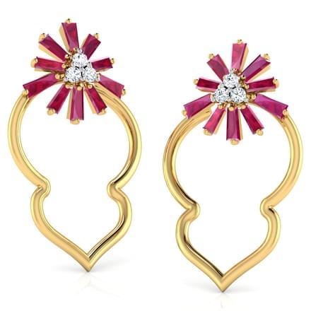 Scintilla in Petal Stud Earrings