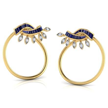Ray In Circlet Stud Earrings