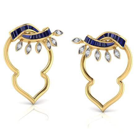Ray In Petal Stud Earrings