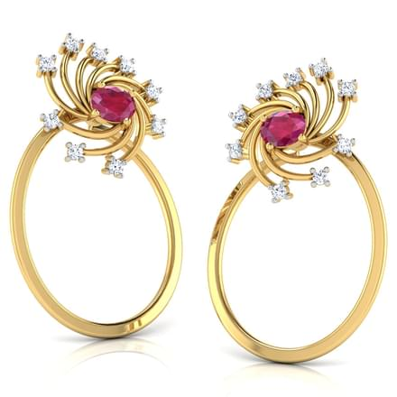Pinwheel In Oval Stud Earrings