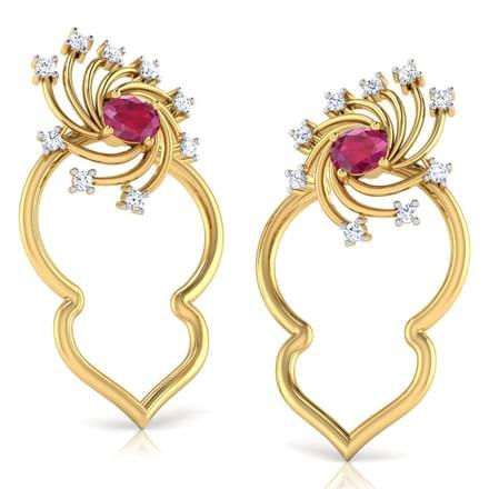 Pinwheel In Petal Stud Earrings