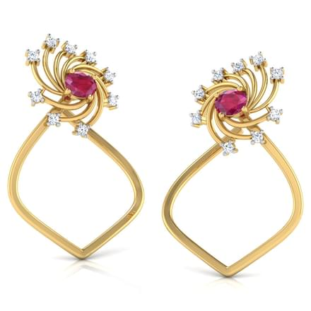 Pinwheel In Dome Stud Earrings