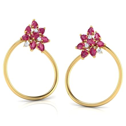 Clustered In Circlet Stud Earrings