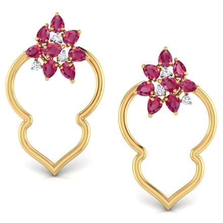 Clustered In Petals Stud Earrings