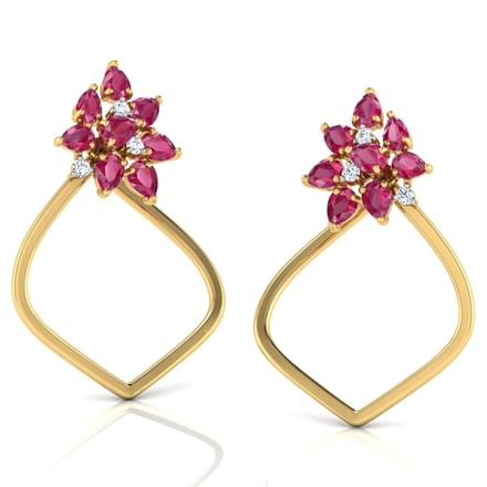 Clustered In Dome Stud Earrings