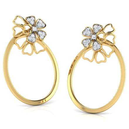 Cosmos In Oval Stud Earrings