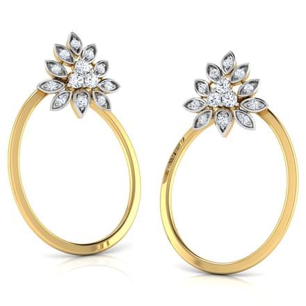 Stipple in Oval Stud Earrings