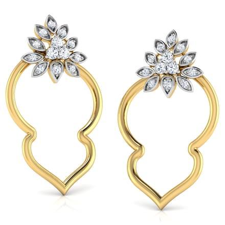 Stipple In Petal Stud Earrings