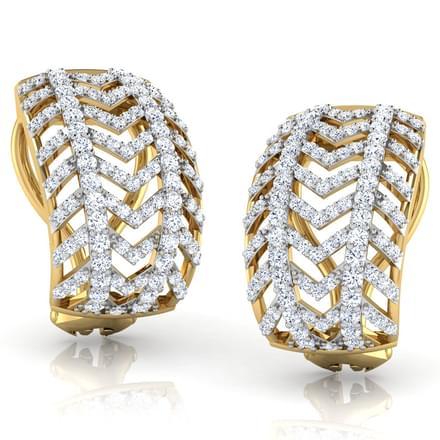 Crisscut Huggie Earrings