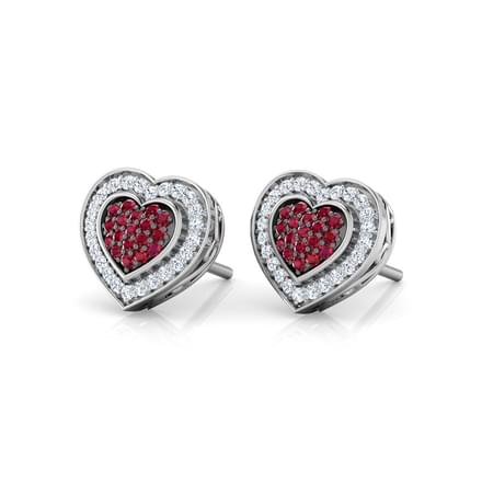Blush Heart Stud Earrings