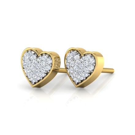 Bevy Heart Stud Earrings