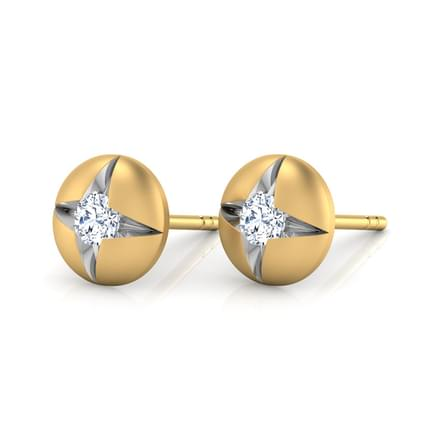 Round Pocket Stud Earrings