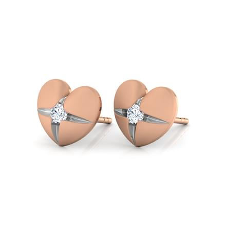 Heart Pocket Stud Earrings