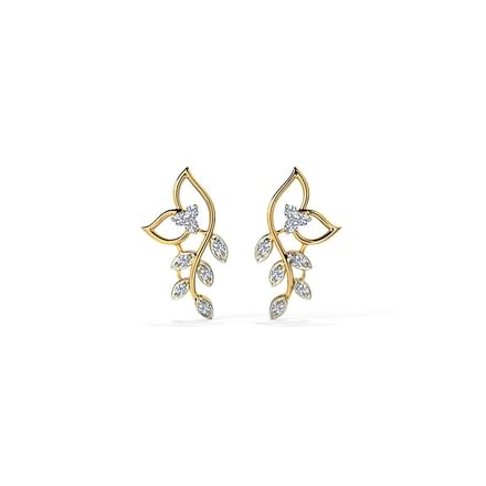 Classic Leaves Diamond Stud Earrings