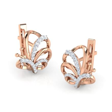 Winsome Butterfly Hoop Earrings