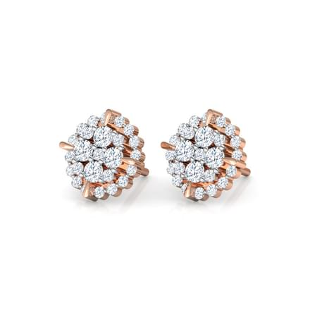Elegant Cluster Stud Earrings