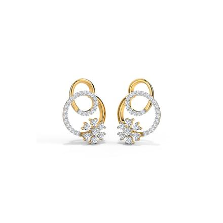 Floret in Loop Stud Earrings