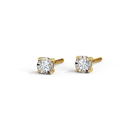 Petite Miracle Plate Stud Earrings