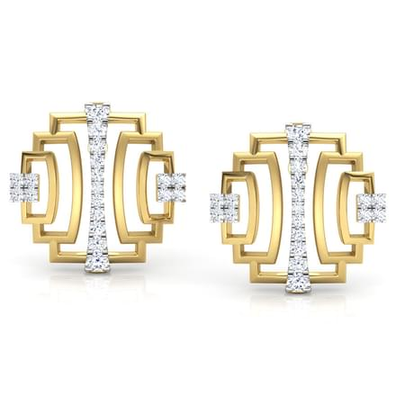 Liberty Ziggurat Stud Earrings