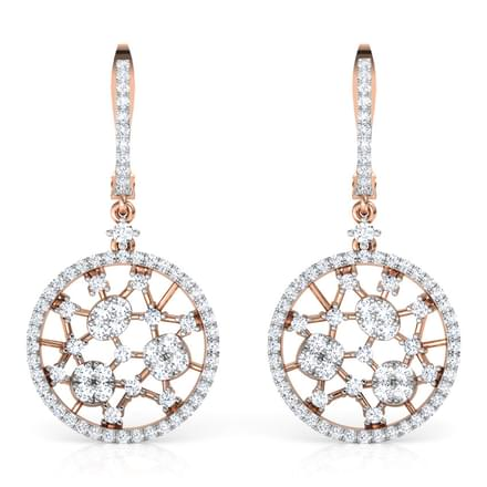 Round Lattice Drop Earrings