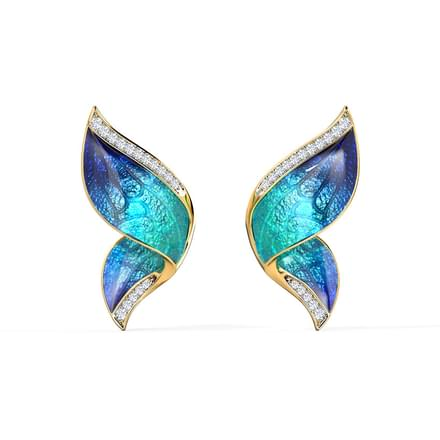 Pinion Blue Butterfly Ear Cuffs