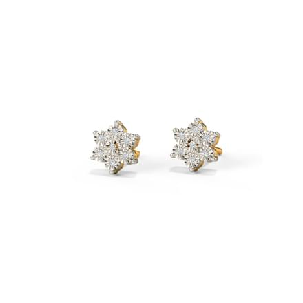 Bunch Miracle Plate Stud Earrings