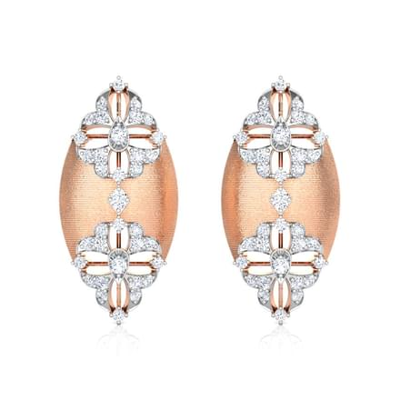 Enfold Brocade Stud Earrings