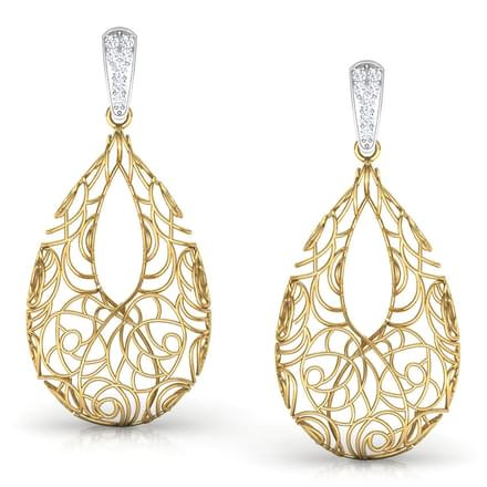 Aquila Trellis Diamond Drop Earrings
