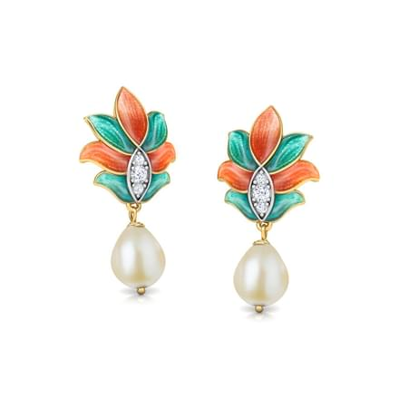 Samira Lotus Drop Earrings
