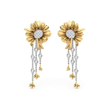 Aster Bloom Drop Earrings