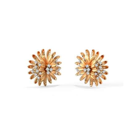 Zinnia Bloom Stud Earrings