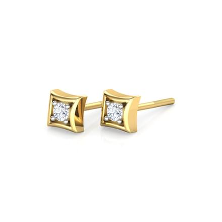 Diamond Quad Stud Earrings