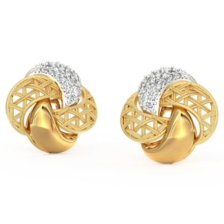 Overlay Interlaced Stud Earrings