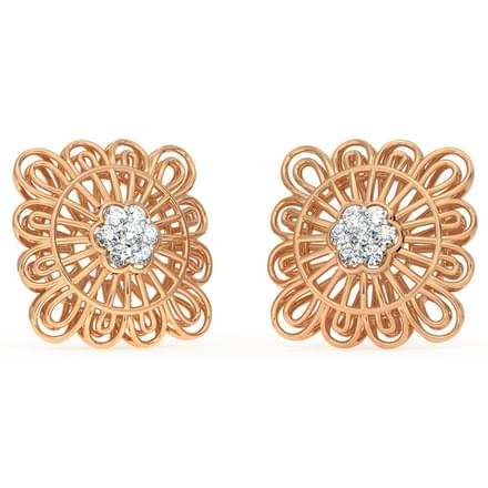 Ornate Mesh Stud Earrings