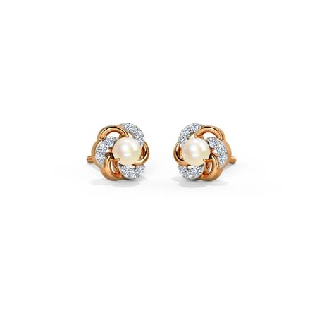 Arc Pearl Stud Earrings