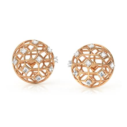 Dome Mesh Stud Earrings