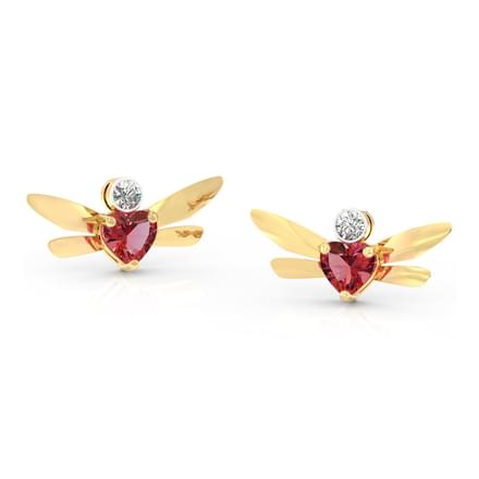 Hover Dragonfly Stud Earrings