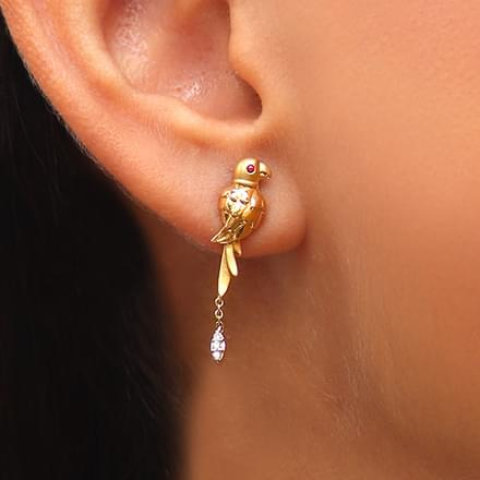 Graceful Parrot Drop Earrings
