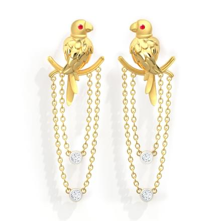 Swaying Parrot Drop Earrings