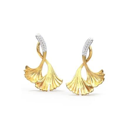Dazzling Ginkgo Stud Earrings