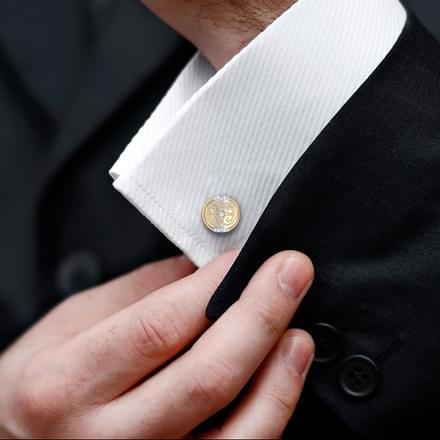 Alex Gold and Silver Cufflinks