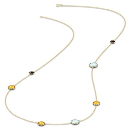 Asymmetric Gemstone Necklace