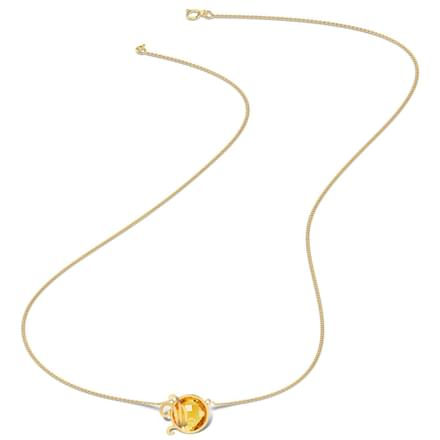 Genteel Citrine Necklace
