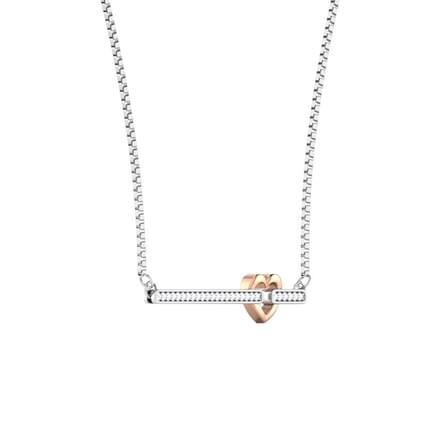 Rose Heart Bar Necklace
