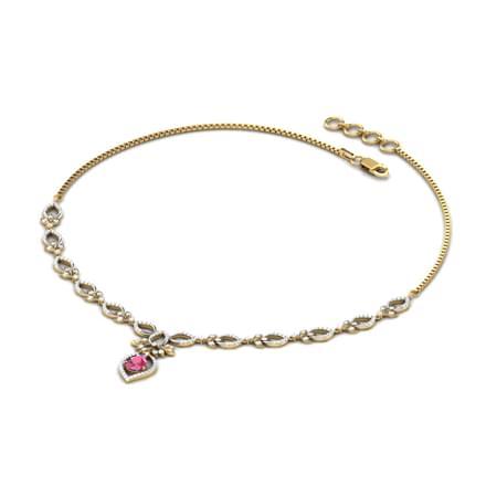 Trifolia Ruby Necklace
