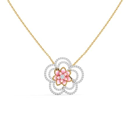 Sparkling Bloom Lotus Necklace