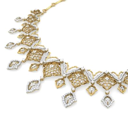 Yani Diamond Wave Necklace