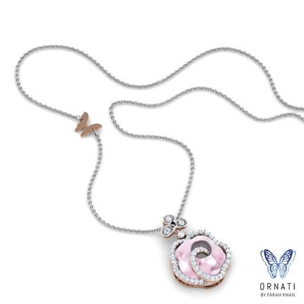 Fleta  Rose Quartz  Necklace