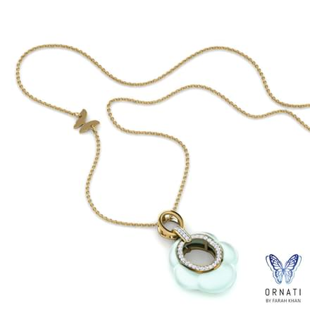 Iona  Chalcedony Drop Necklace