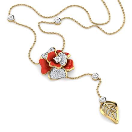 Shaina Red Rosebud Necklace